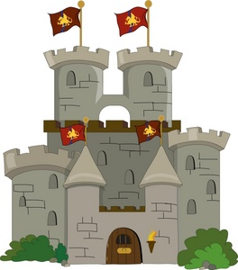 Castle letters clip art