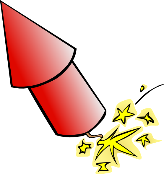 Rocket fireworks clip art  2