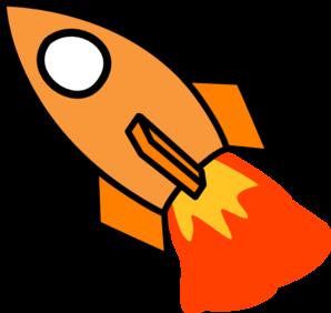 Rocket launch clip art clipart image #12855