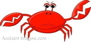 Small crabs clipart