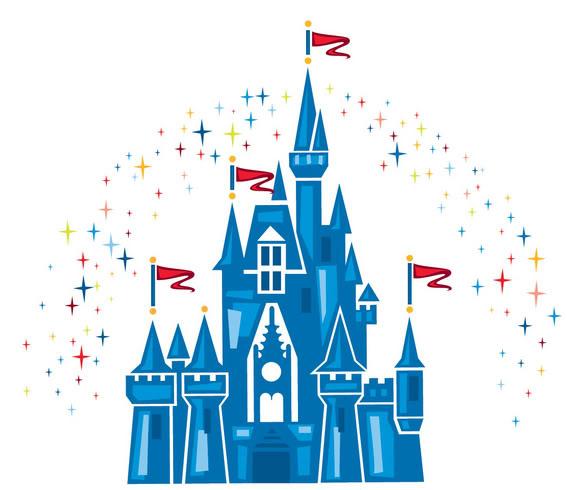 Walt disney castle clipart