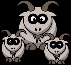 Baby goats clip art at vector clip art