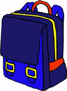 Backpack clip art download