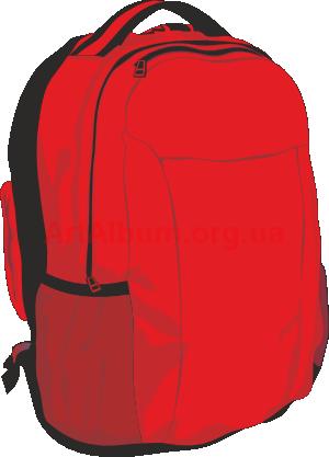 Backpack rest vector clipart artalbum