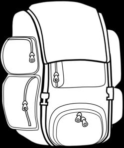Black backpack clip art at vector clip art 2