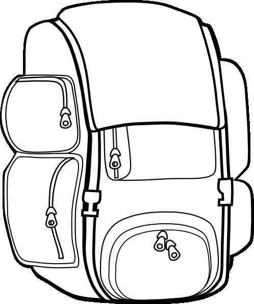 Black backpack clip art at vector clip art