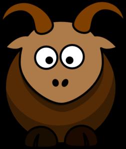 Brown goat clip art vector clip art free