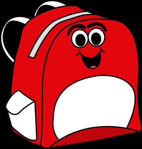 Cartoon backpack clip art cartoon backpack vector image
