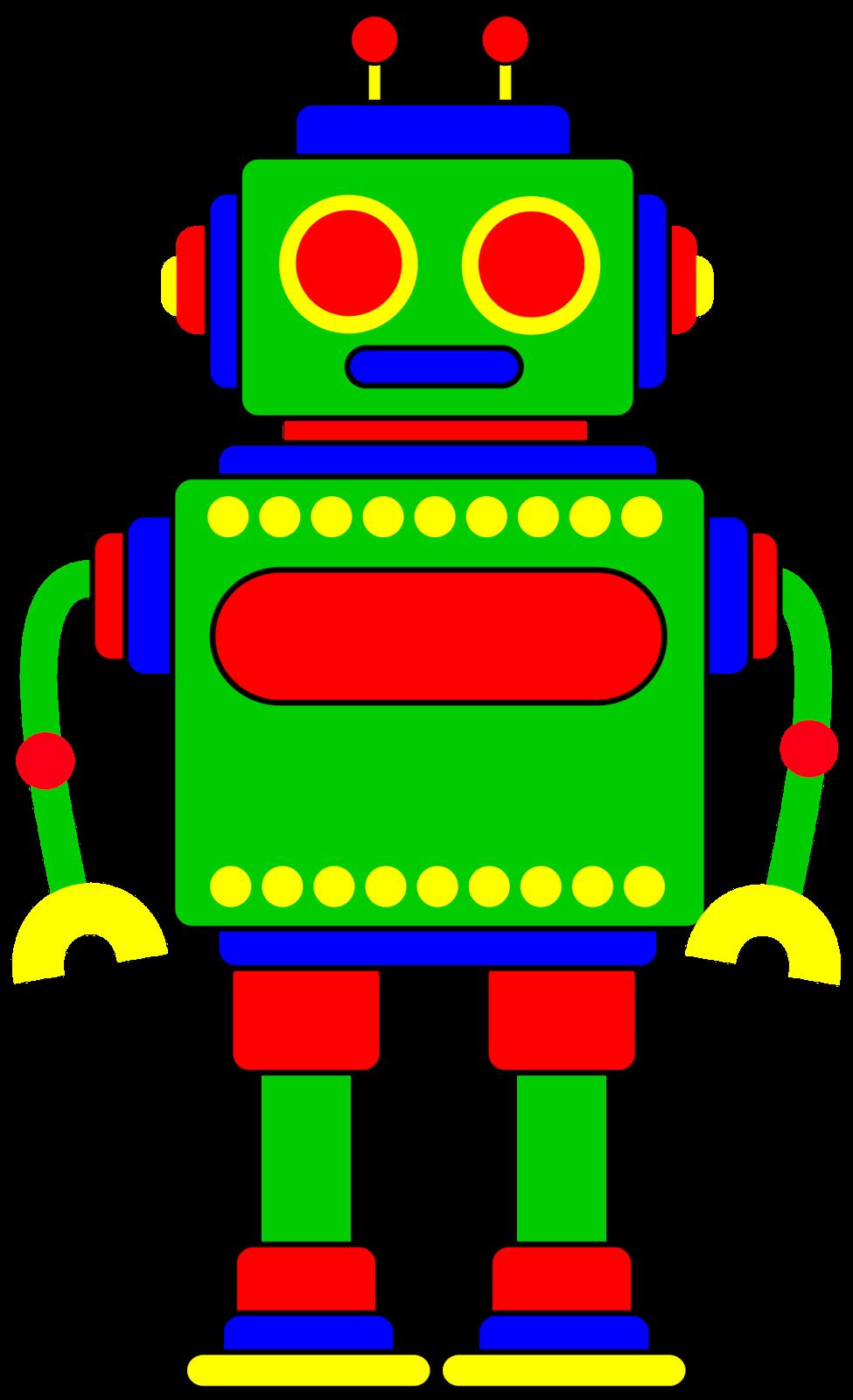 Classroom treasures robot clipart 2