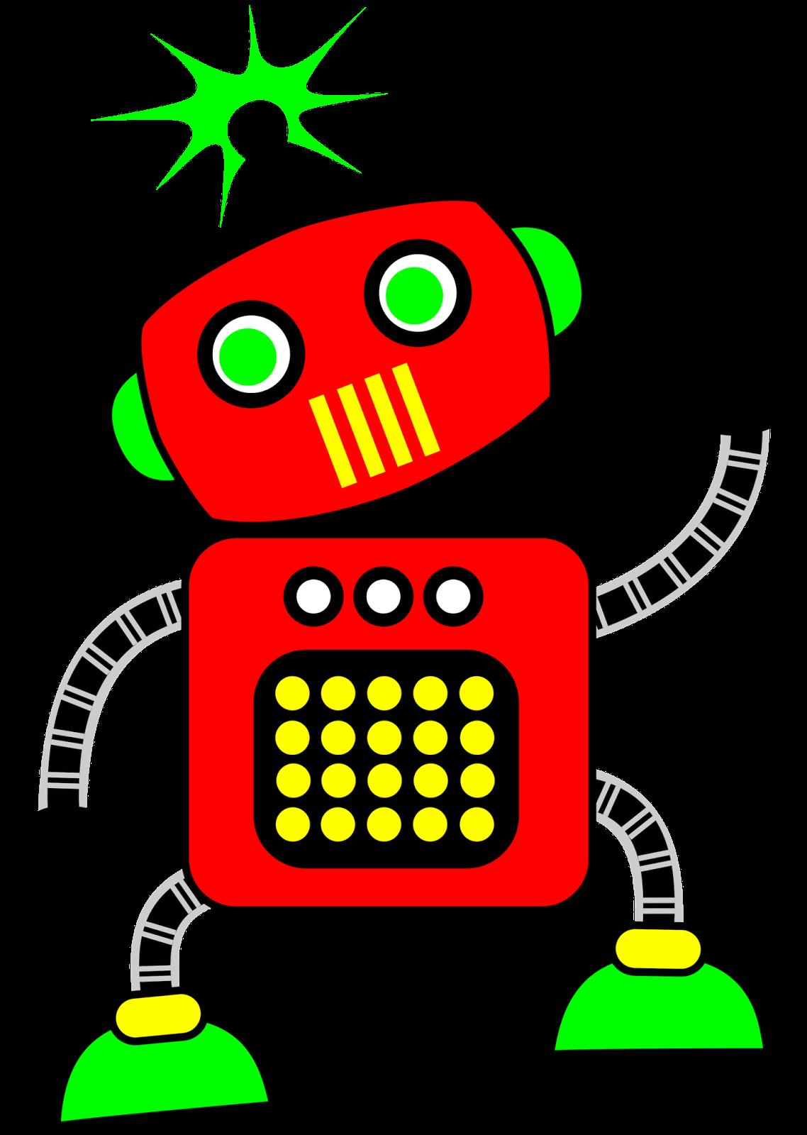 Classroom treasures robot clipart 3