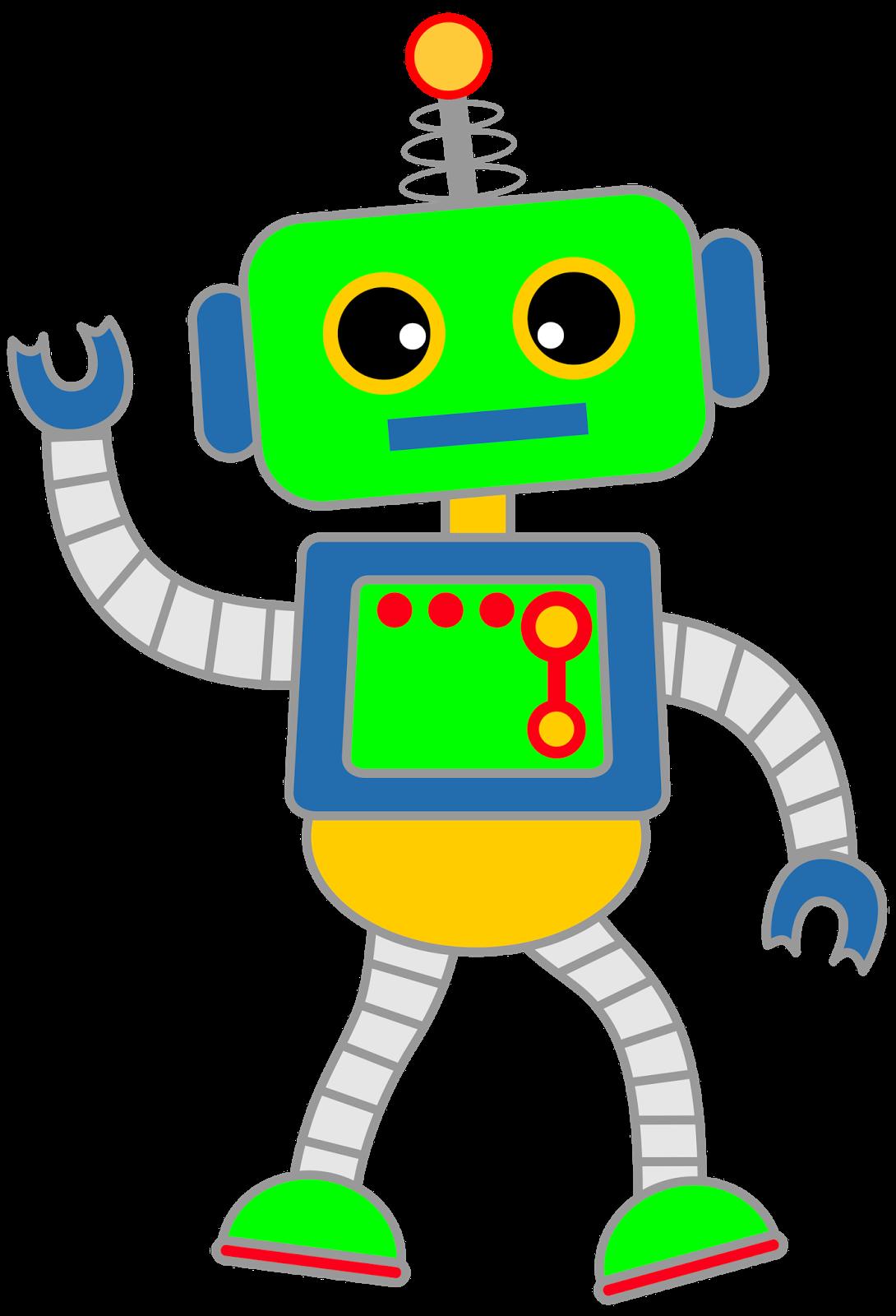 Classroom treasures robot clipart