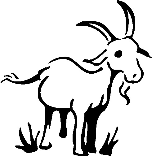 Goats clip art 2