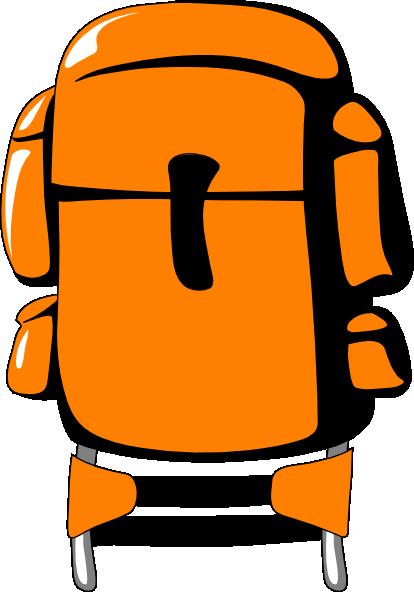 Hiker backpack clip art at vector clip art