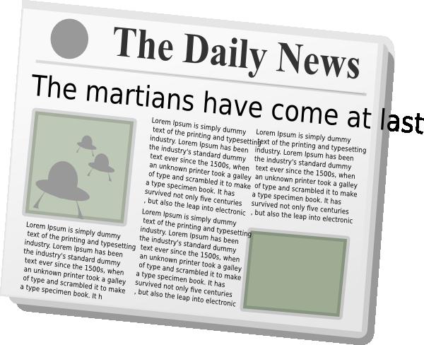 Newspaper clip art at vector clip art 3
