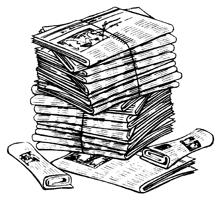 Newspaper clipart 6