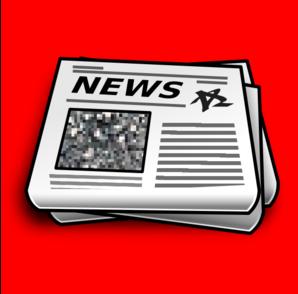 Pile of newspaper clip art at vector clip art