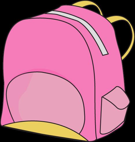 Pink backpack clip art pink backpack vector image
