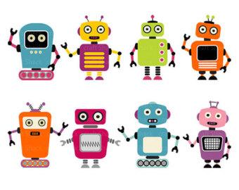 Robot clipart 2