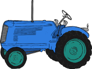 Tractor clip art vector clip