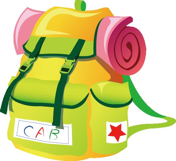 Travel backpack clip art vector
