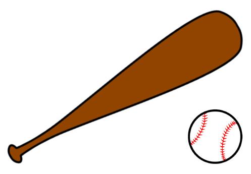 Baseball bat baseball clip art for kids