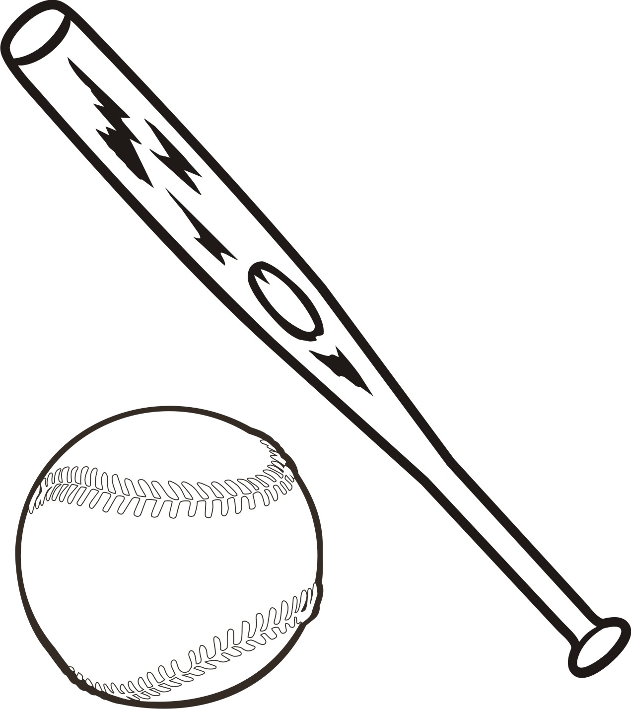 Baseball bat clipart 3