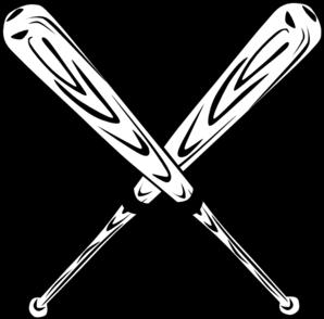 Baseball bat crossed bats clip art at vector clip art