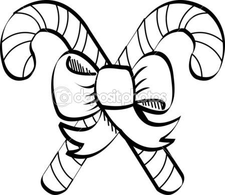 Candy cane clip art stock vector clipartguy 2