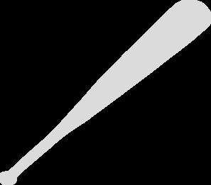 Gray baseball bat clip art at vector clip art