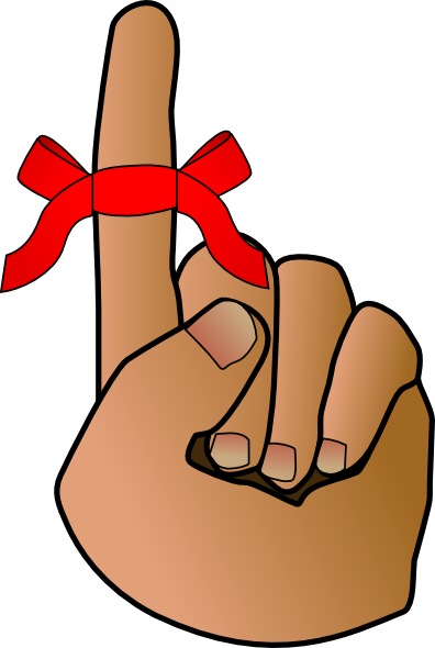 Reminder hand clip art at vector clip art