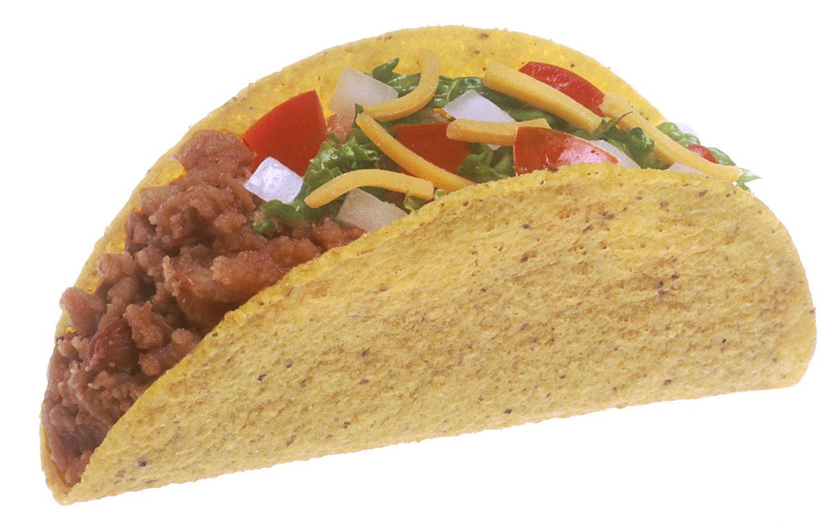 Taco hardshell large food mexican taco hardshell large html clip art
