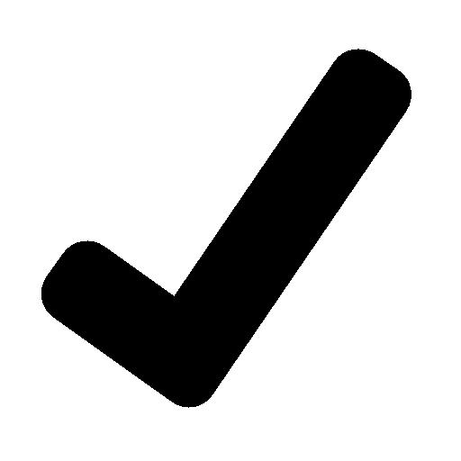 Black check mark clip art