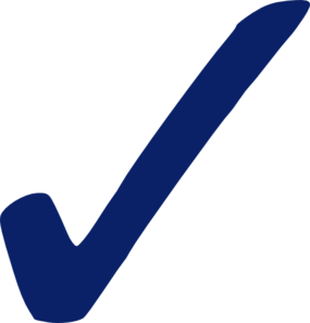 Blue check mark clip art at vector clip art 2