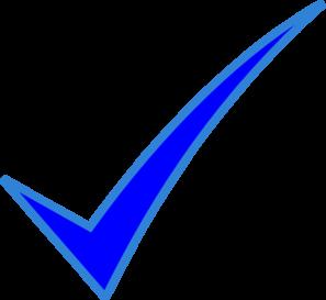 Blue check mark clip art at vector clip art