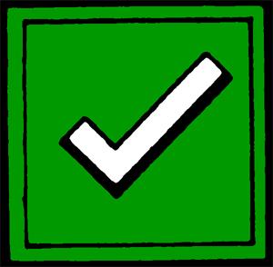Check mark a perfect world clip art symbols