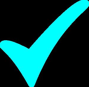 Check mark aqua checkmark clip art at vector clip art