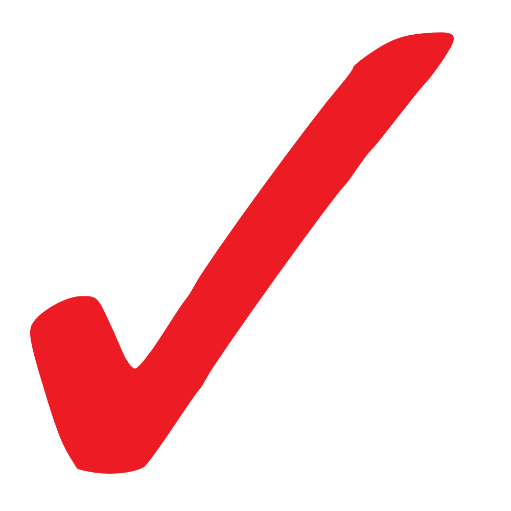 Check mark clip art simple red checkmark