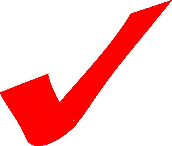Check mark red checkmark clip art at vector clip art