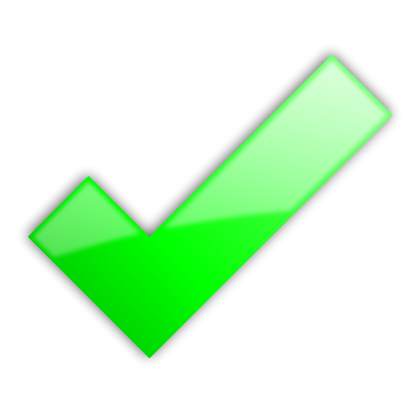 Clipart of a check mark clipart