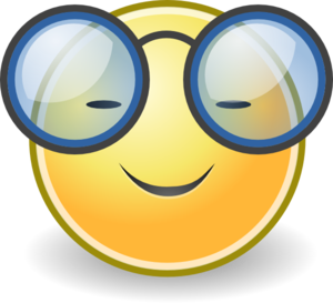 Face glasses clip art at vector clip art