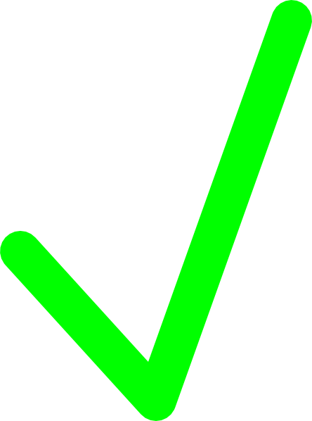 Green check mark image clipart