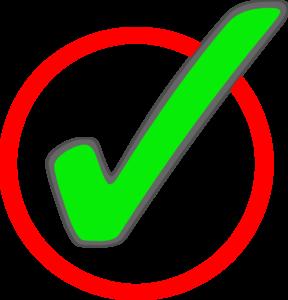 Green check mark in circle 2 clip art at vector clip