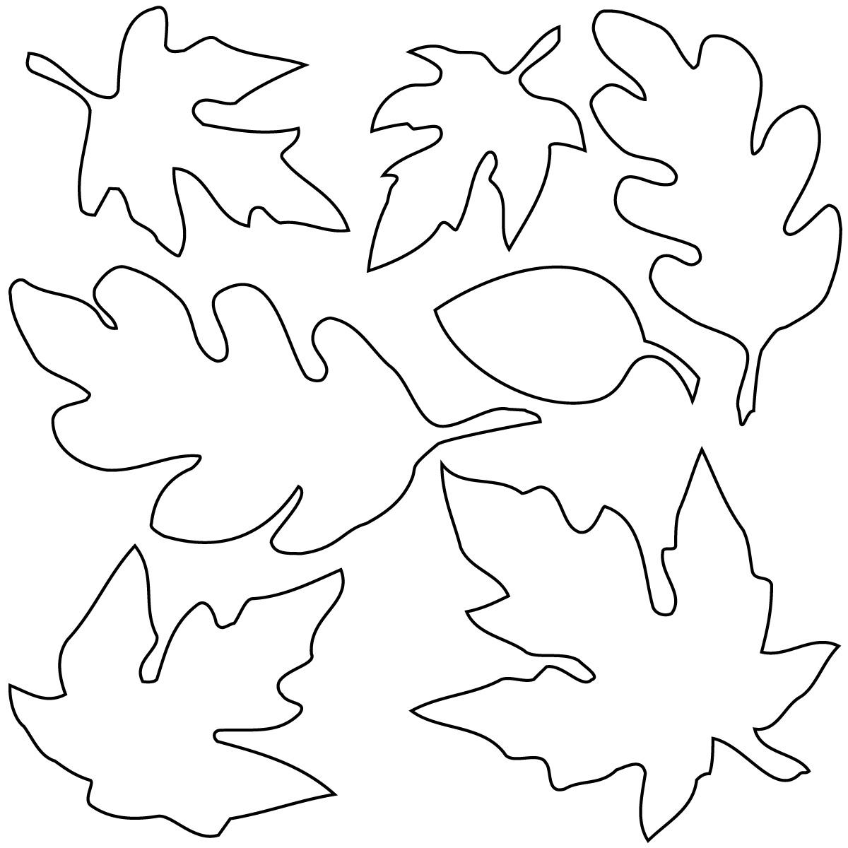 Leaves clip art black