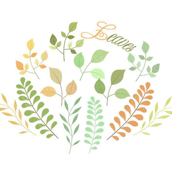 Leaves clipart leaves clip art nature from digitalcs on
