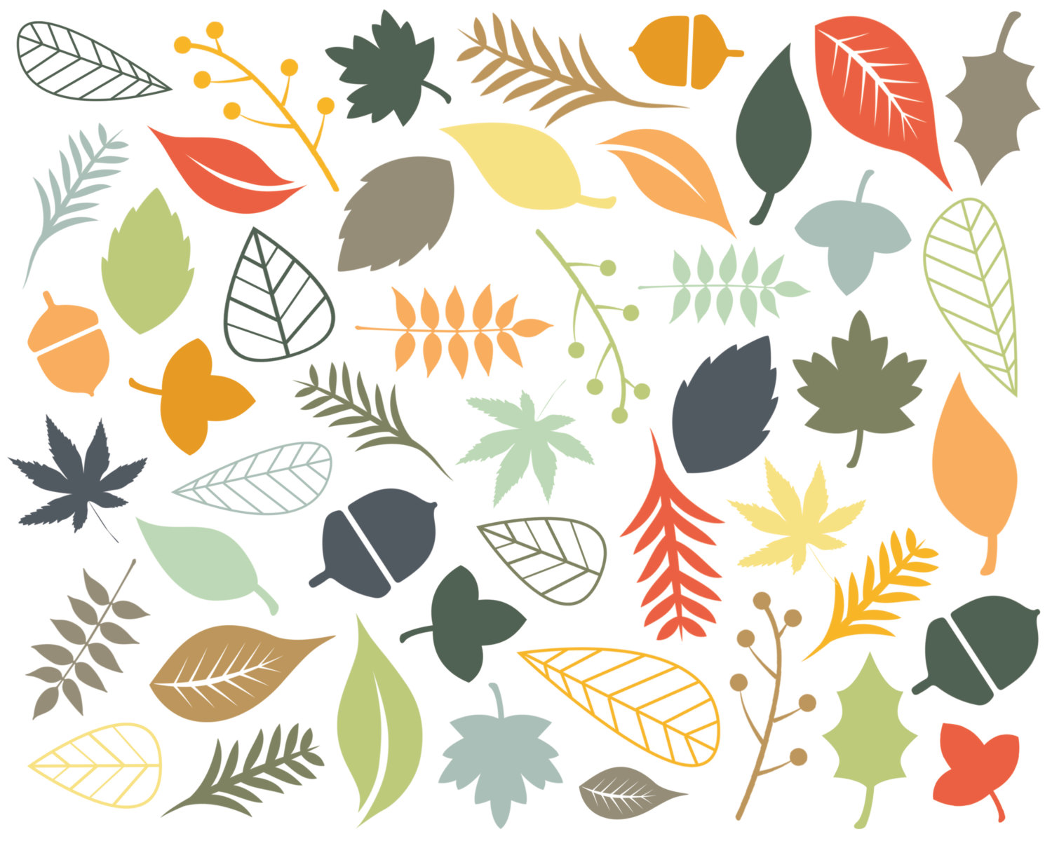 Leaves the easiest way to find digital scrapbooking templates clip art