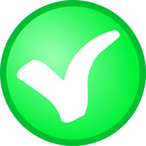 Powerpoint check mark symbol clipart