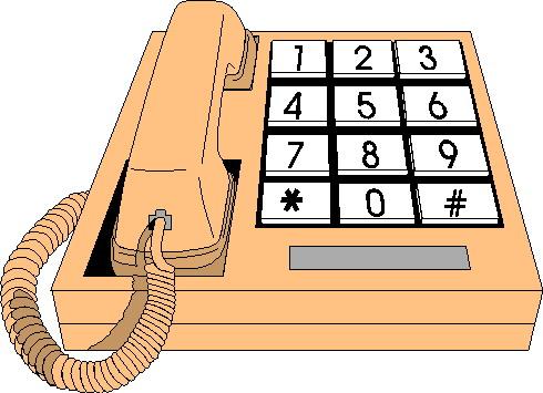 Telephone clip art 10