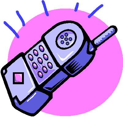 Telephone clip art 12