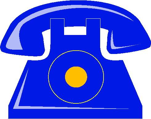 Telephone clip art 13
