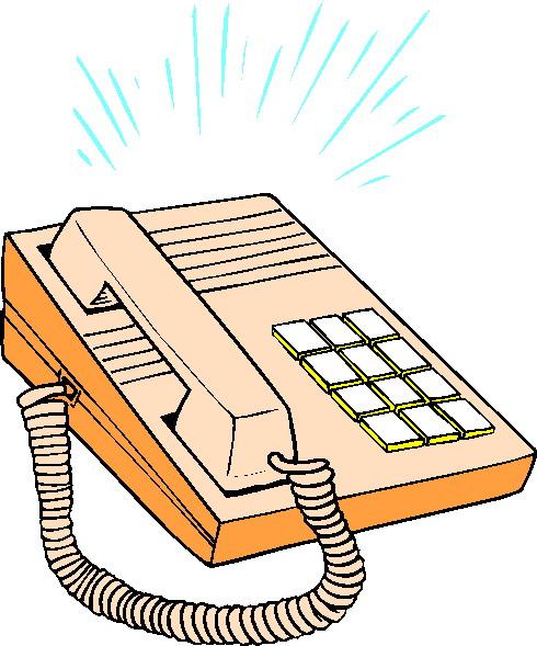 Telephone clip art 5